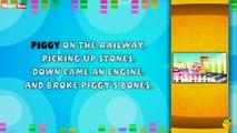 Piggy On The Railway Lyrical Video | English Nursery Rhymes Full Lyrics For Kids & Children