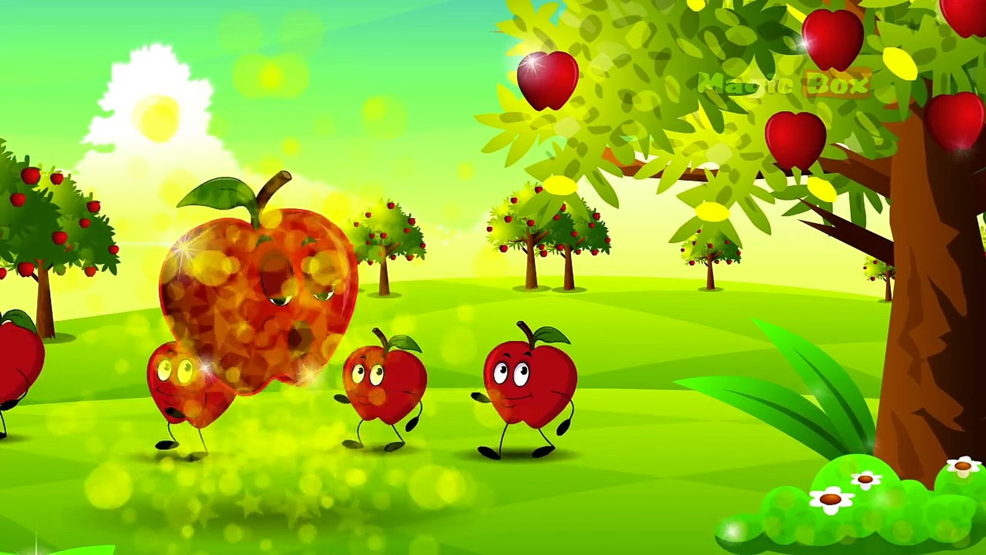 If I Were An Apple - English Nursery Rhymes - Cartoon/Animated Rhymes For Kids