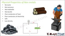 Chemistry Metal & Non-Metal Part 7 (Physical Properties of Non Metals) Class 8  VIII