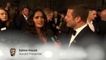 Salma Hayek Likes All The Films This Year! _ Red Carpet Interview _ EE BAFTA Film Awards 2018