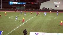Double de JAMAL THIARE pour Avranches !!! Suite à une belle ouverture il se joue des défenseurs et du gardiens de Lyon. 2 buts à 1 pour Avranches!