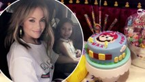 Hey big spender! Jennifer Lopez tips $5.5K on $7.5K bill for her twins Max and Emme to live it up at Sugar Factory in Las Vegas for 10th birthday.