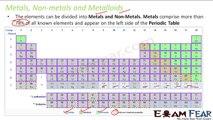 Chemistry Periodicity in properties part 14 (Metals, non metals & metalloids) CBSE class 11 XI