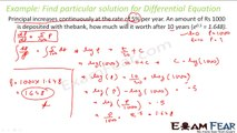 Maths Differential Equation part 7 (Example : Create differential