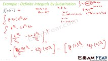 Maths Integrals part 41 (Example:Definite integral by substitution) CBSE class 12 Mathematics XII