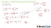 Maths Integrals part 8 (Example:Indefinite integrals by inspection) CBSE class 12 Mathematics XII