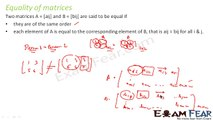Maths Matrices class 12 part 8 (Equality of matrices) CBSE Mathematics XII