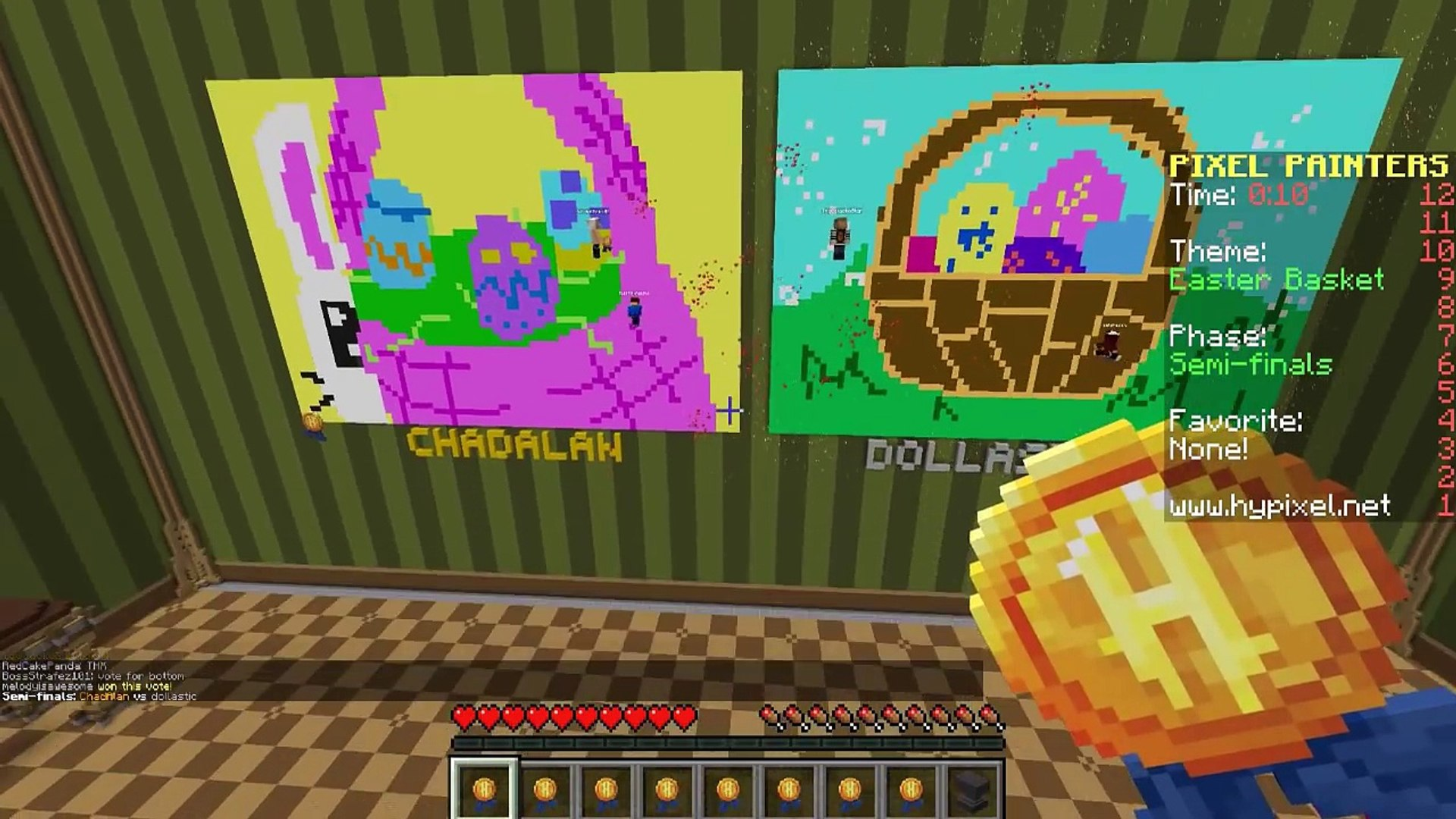 Pixel Painters with Gamer Chad | Easter Bunny | Minecraft Hypixel Server