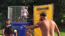 Coach Gets Dunked in a Tank | Free For All Dunk A Kid in the Tank Challenge