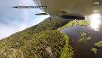 Ils réempoissonnent un lac de montagne grâce à un largage de poissons en avion !