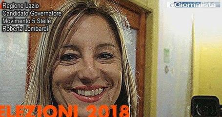 Roberta Lombardi, M5S, candidato Governatore regione Lazio