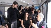 Ulaştırma Bakanı Arslan, Doğu Ekspres klibinde rol aldı