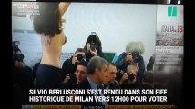 Elections en Italie: Le vote de Berlusconi perturbé par l'irruption de plusieurs Femen seins nus