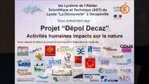 Projet Dépol Decaz C Génial 2018 lycée la découverte Decazeville