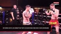 Muay-thaï : En pleine chute, un combattant met un incroyable high kick à son adversaire (Vidéo)