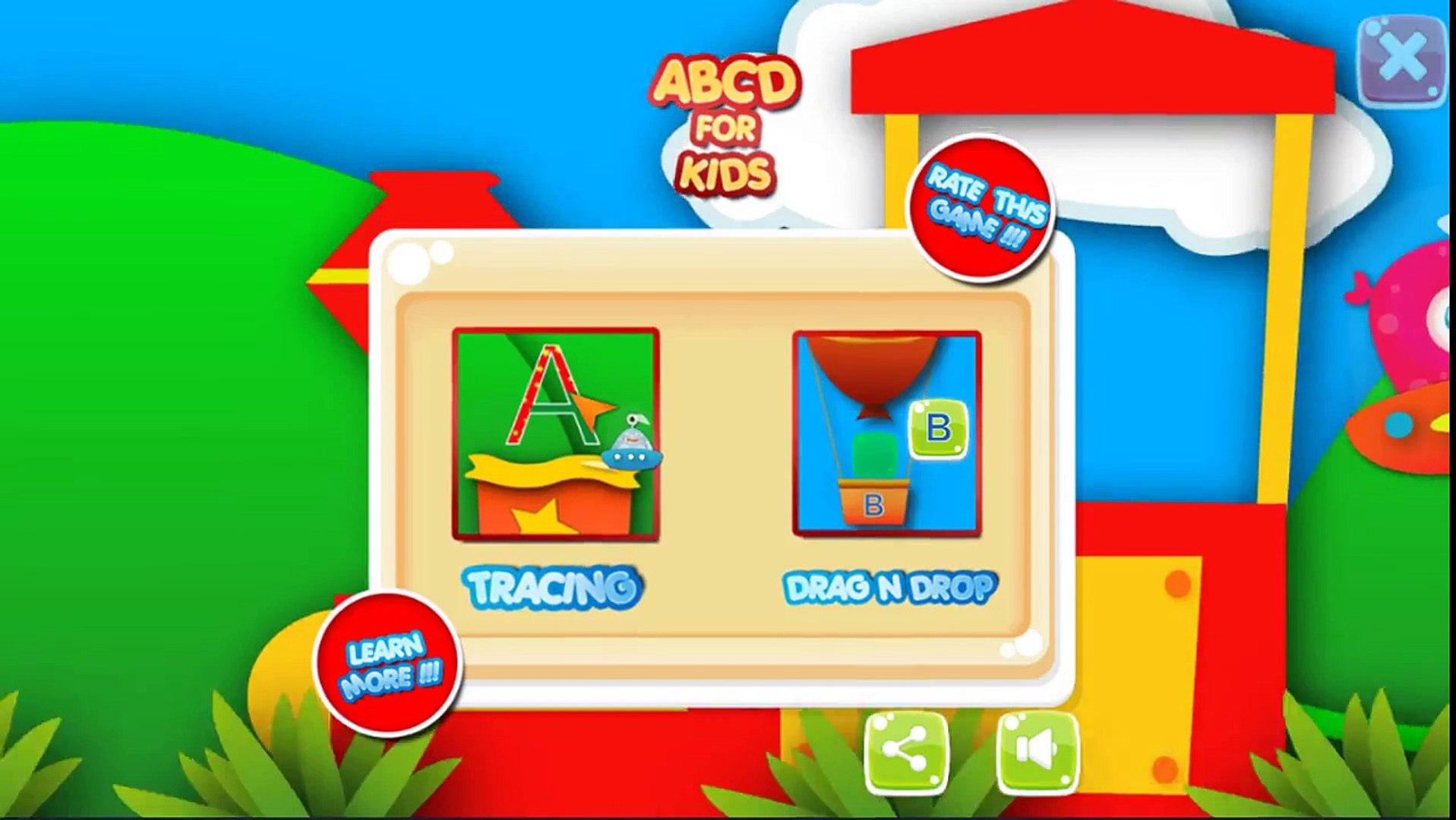 Learn ABC's with Kids World - Learn the alphabet with balloon - Alphabet letters education for