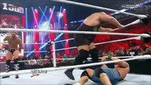 WWE The Rock saves John Cena and gets attacked by CM Punk at 1000th Episode of RAW - 7/23/12