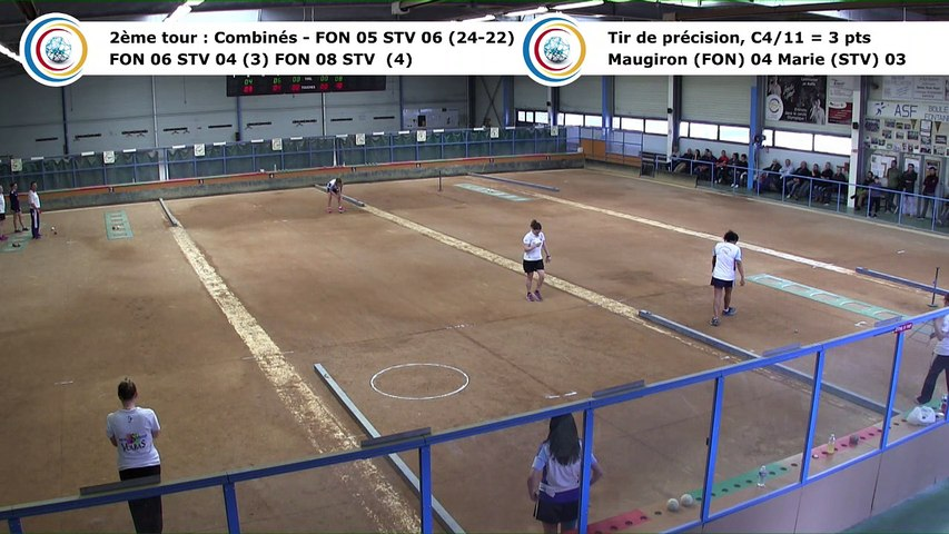Second tour, premier tir de précision, Club Elite Féminin, demi-finale retour, Fontaine contre Saint-Vulbas,, saison 2017-2018