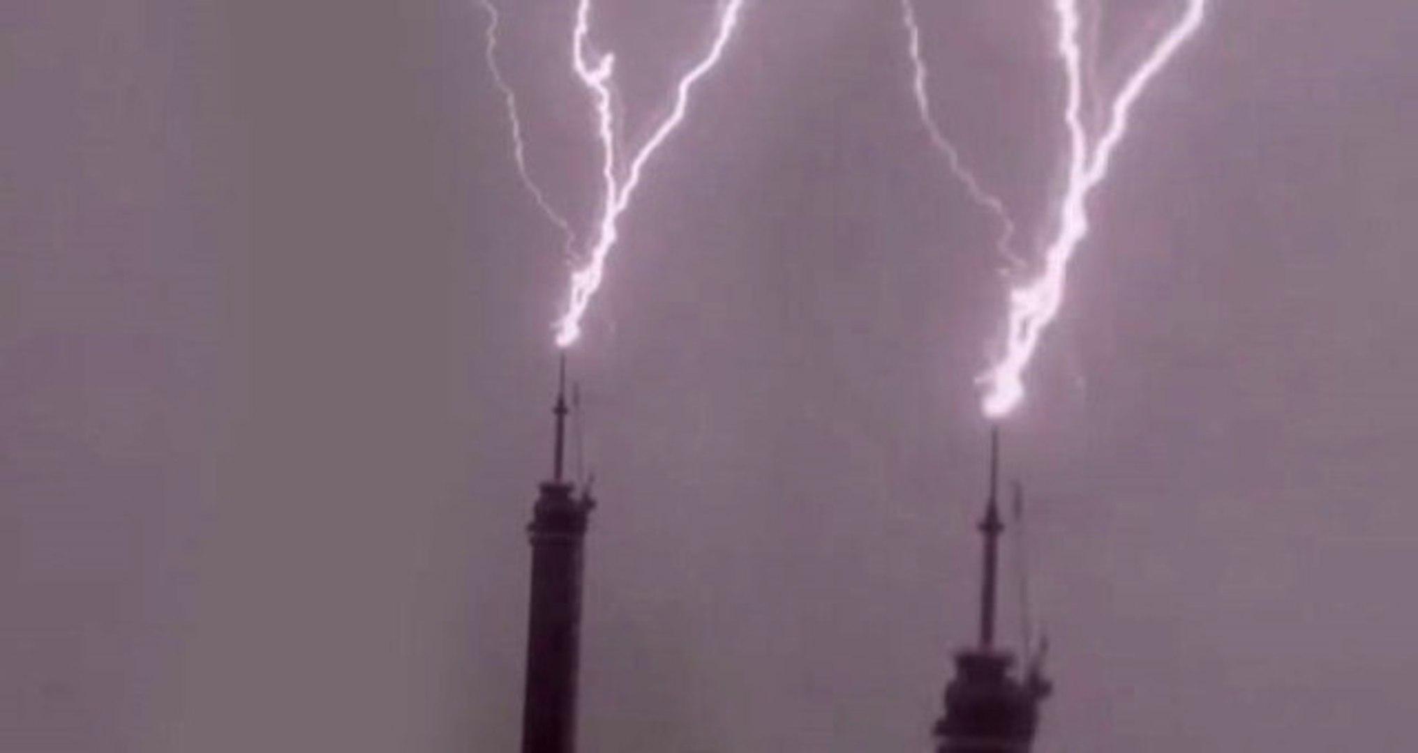 Çamlıca'daki Yeni TV Kulesine Yıldırım Düşmüştü! Görüntüler Ortaya Çıktı