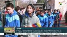 Venezolanos en China rinden homenaje al líder Hugo Chávez