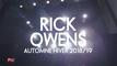 RICK OWENS I Fashion Week By ELLE Girl Automne Hiver 2018-2019 ! MODULE #5