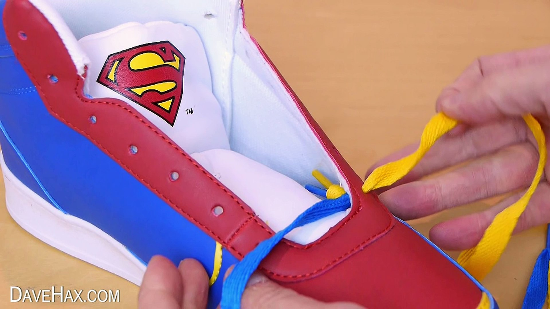 How Would Superman Tie His Shoe Laces?