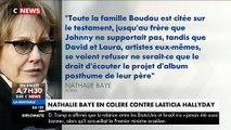 Nathalie Baye sort de son silence et charge violemment Laeticia Hallyday et la famille Boudou