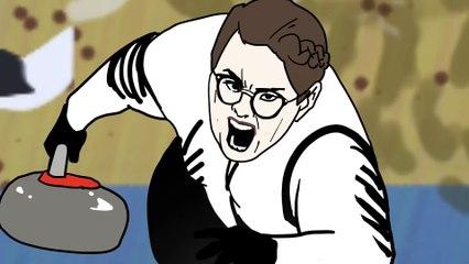 여자 컬링과 올림픽 후기 애니메이션 Olympic Animation