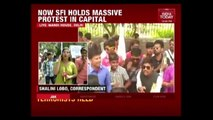 SFI Workers From Across India Protest Against ABVP Violence In Delhi