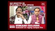 #PatriotWar : Venkaiah Naidu Speaks Exclusively On Campus Fire In Delhi University