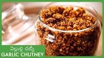 Dry Red Chilli Garlic Chutney In Telugu   Chutneys Recipes   వెల్లుల్లి చట్నీ   Spicy Garlic Powder
