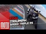 Triumph Speed Triple RS - Essai Moto Magazine 2018