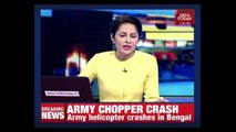 Army Cheetah Helicopter Crashes At Sukna In Bengal