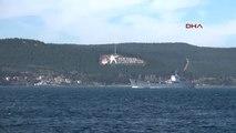 Çanakkale Askeri Araç Yüklü Rus Gemisi Akdeniz'e İniyor