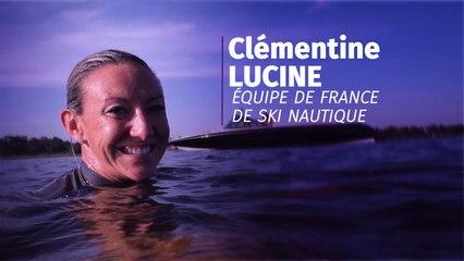Clémentine Lucine, membre de l'équipe de France de ski nautique