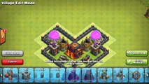 Clash of Clans (CoC) Town Hall 4 (TH4) Defense BEST HYBRID Base Layout Defense Strategy