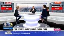 """Pro et anti-avortement, regardez le face à face très tendu ce matin en direct dans """"Morandini Live"""" sur Cnews et Non Sto"""