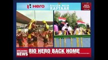 PV Sindhu Parades Across Hyderabad Celebrating Her Olympic Win