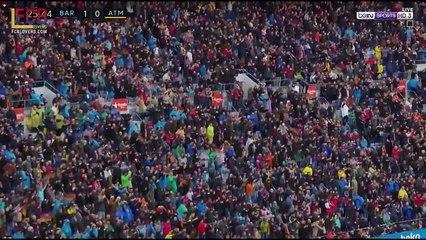 Le coup franc de Messi contre l'Aletico !