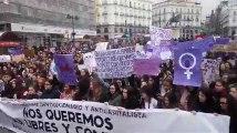 Grève féministe en Espagne