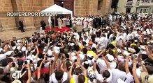 From Cartagena, Pope Francis denounces human trafficking