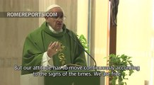 Pope Francis at Casa Santa Marta: Christians must change with the times but keep the faith