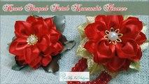 D.I.Y. Heart Shaped Petal Kanzashi Valentines Day Flower | MyInDulzens