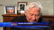 Georg Ratzinger celebrates his 90 birthday in the Vatican with Benedict XVI