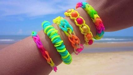 5 Easy Rainbow Loom Bracelet Designs without a Loom   DIY Rubber Band Bracelets