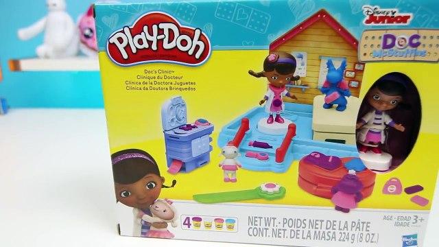 Play Doh Doc McStuffins Docs Clinic Playset Disney Jr Doc McStuffins Lambie Stuffy & Hallie!