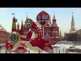 Countdown clock in Russia marks 100 days before Countdown clock in Russia
