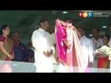 Deputy Prime Minister Zahid Hamidi addresses devotees and visitors at Batu Caves during Thaipusam