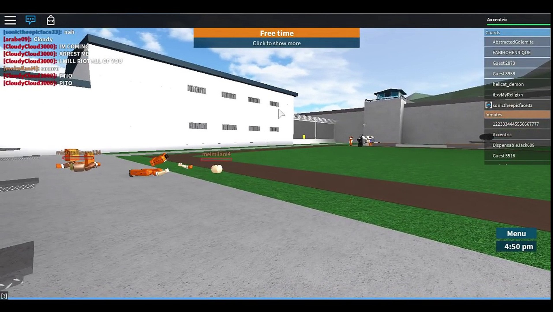 Roblox Prison Life 2 0 Extreme Glitches Riot Class Cloudy War