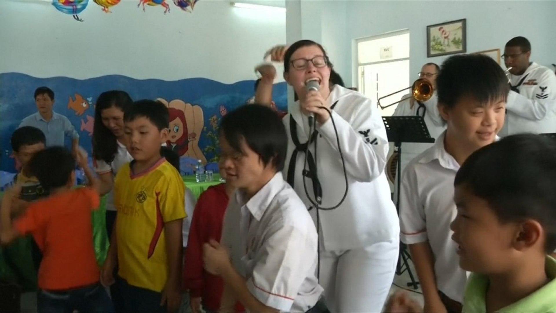 US Sailors visit victims of Agent Orange as part of Vietnam visit
